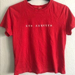 Red Brandy Melville shirt